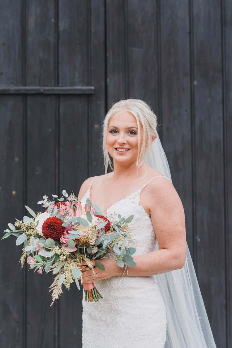 autumn wedding bride