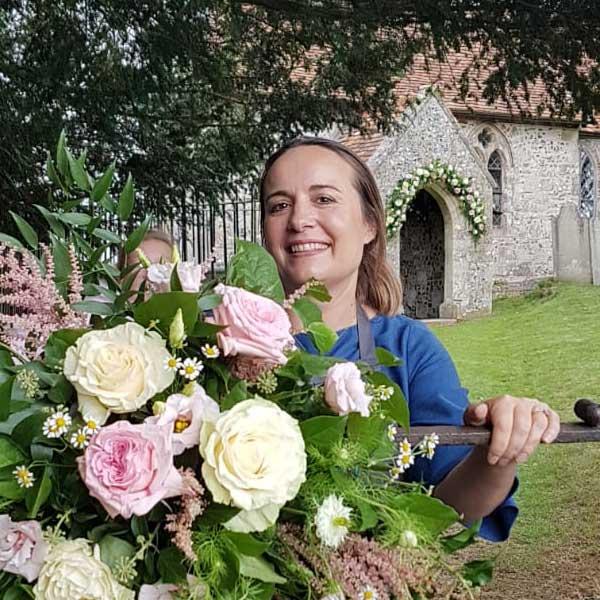 Kirsti, wedding florist Basingstoke
